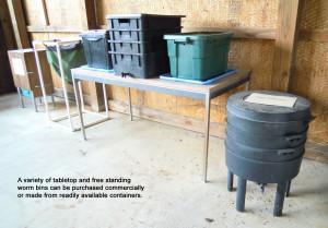 Worm bins variety