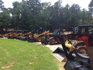 Different types of equipment on site.